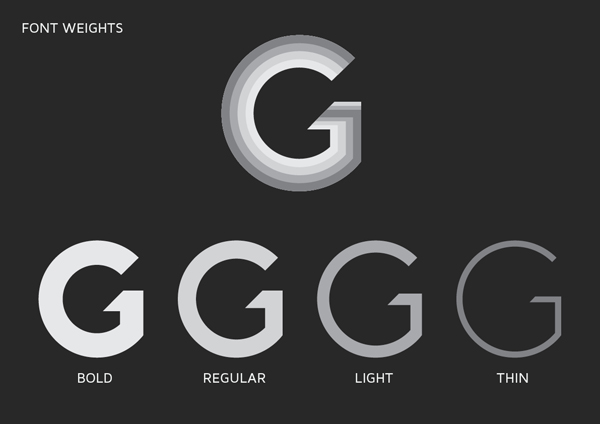how to change the font weight in css