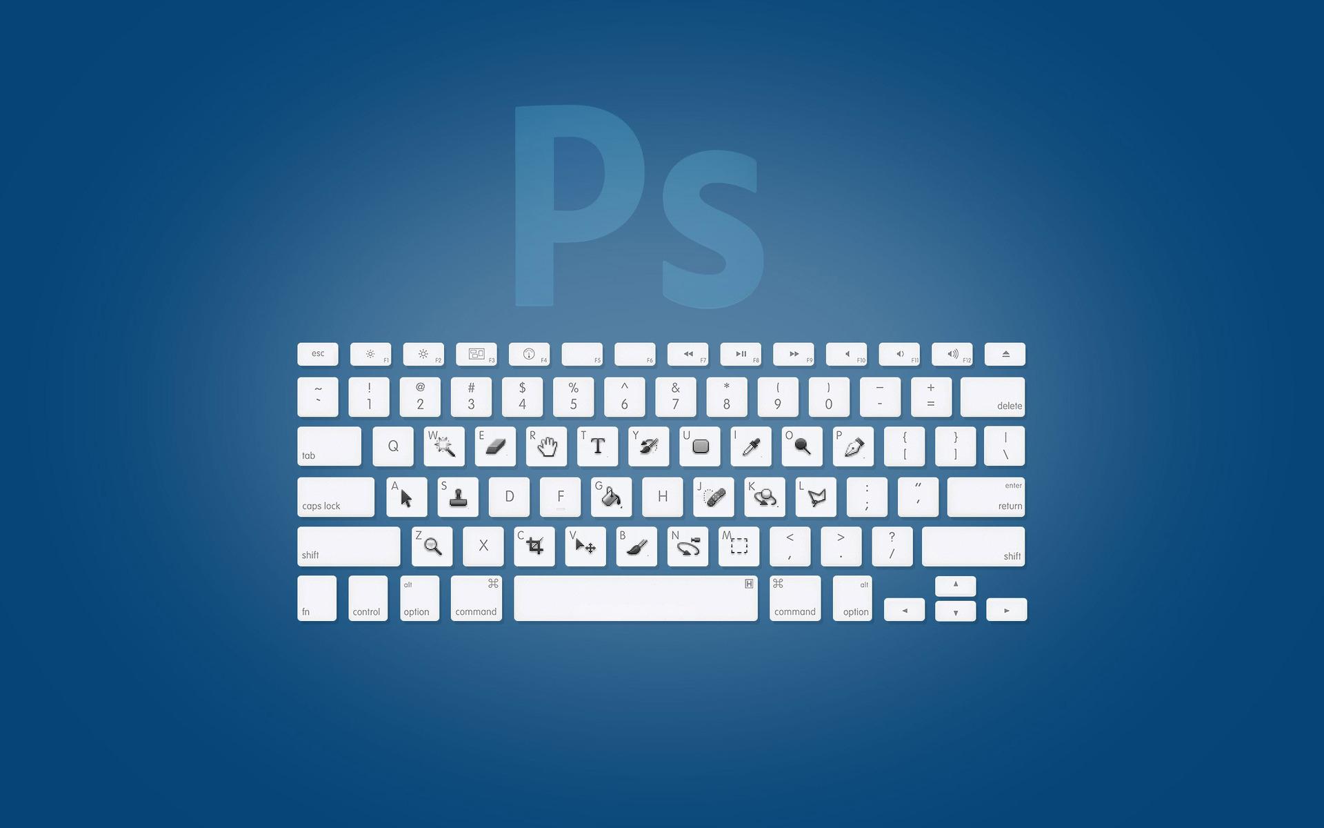 Adobe Photoshop Keyboard Shortcuts Computer Hd Wallpaper 1920x1200 2192 Santiago Barrionuevo