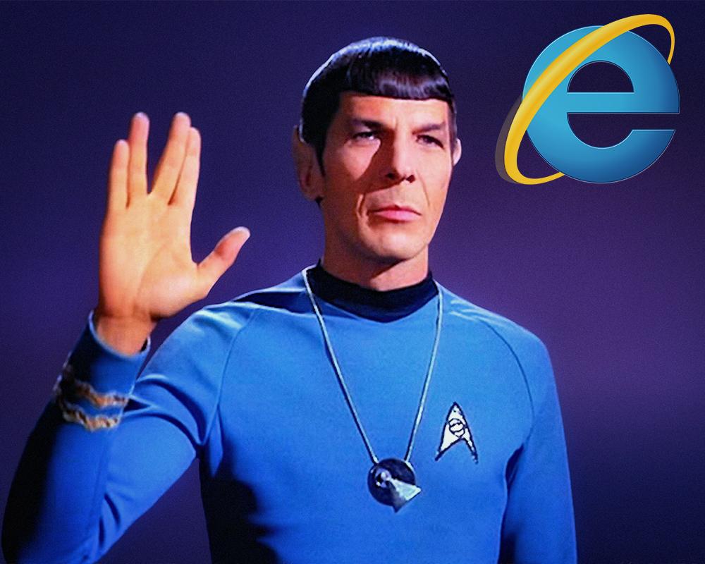 Spock diciendole adios al Internet Explorer