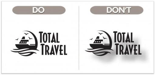 no usar demasiados efectos a la hora de diseñar un logo