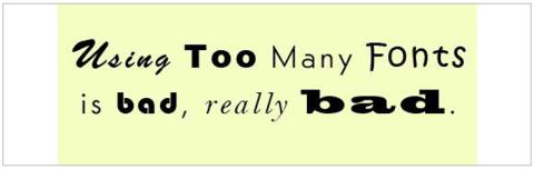 No usar demasiadas fuentes a la hora de diseñar un logo